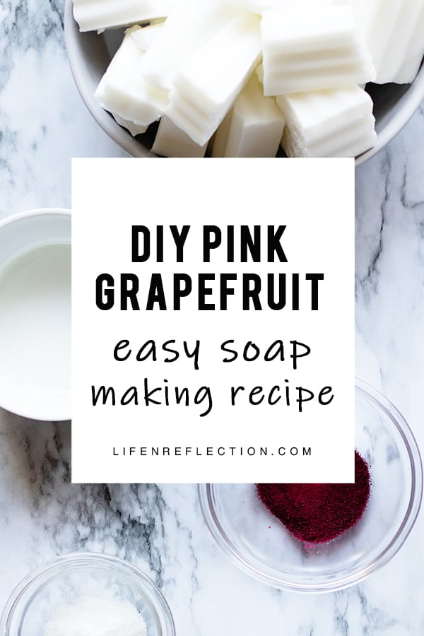 This DIY soap recipe came from my love of grapefruits' fresh, sweet, citrus aroma.