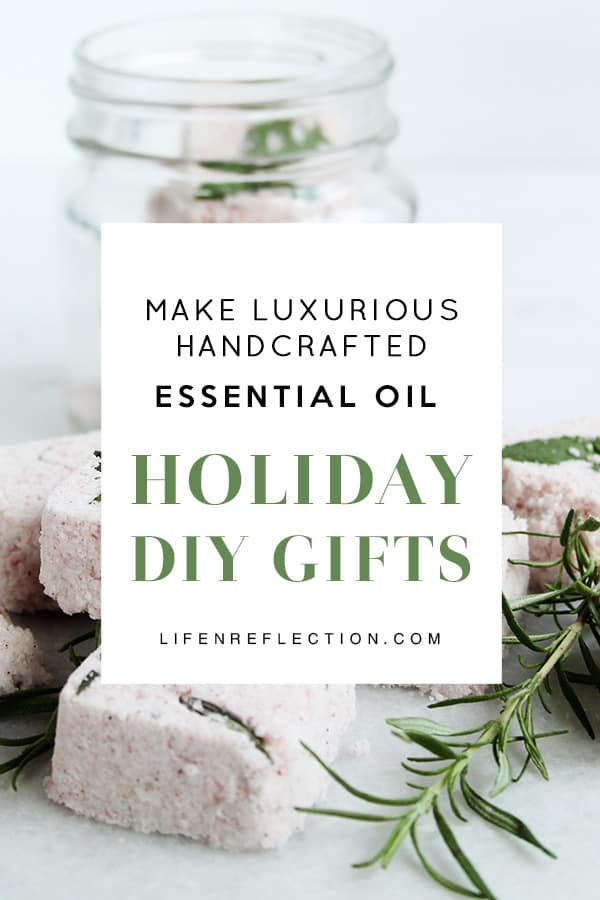 holiday giftmaking with essential oils