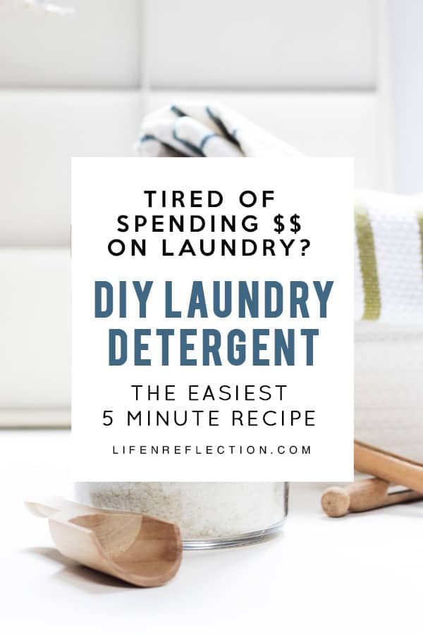 Are you tired of spending money every month on laundry soap? Here's a five minute diy laundry soap!