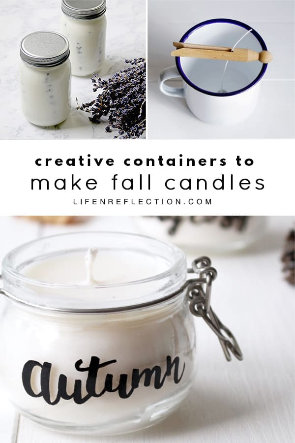 Creative Containers to Make Fall Candles. What are your favorite scents for Fall Candles?