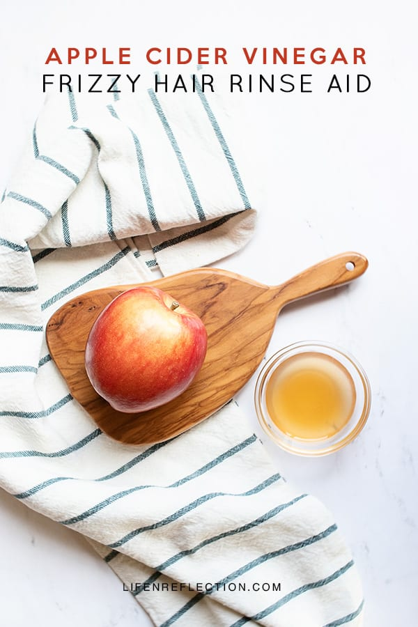Nothing makes hair shine like apple cider vinegar! But did you know it smooths frizzy hair too?