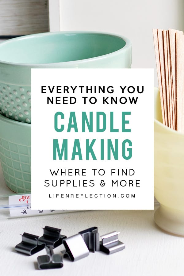 Everything You Need To Know About Candle Making: where to find supplies, how much wax to use, what temperature to melt the wax, and so much more!