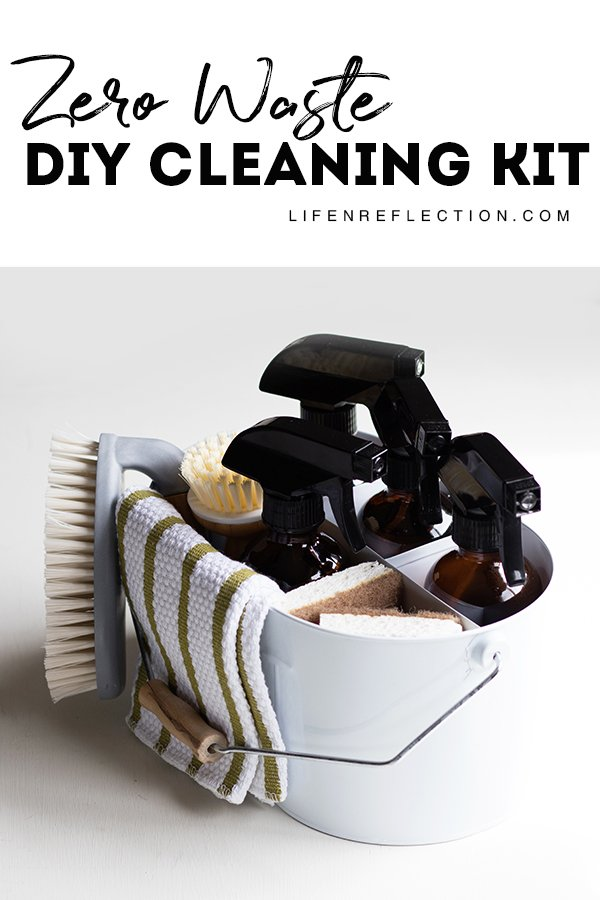 How to create an effortless zero waste DIY cleaning kit with supplies you already have on hand!