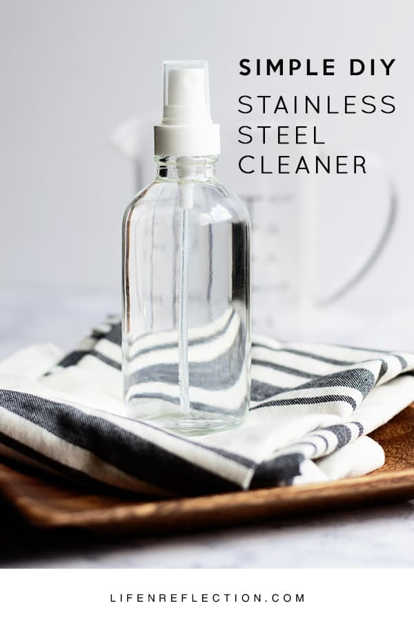 ... DIY stainless steel spray. Then wipe in the direction of the grain with a microfiber cloth. Always remember to test any new cleaners first store-bought ...