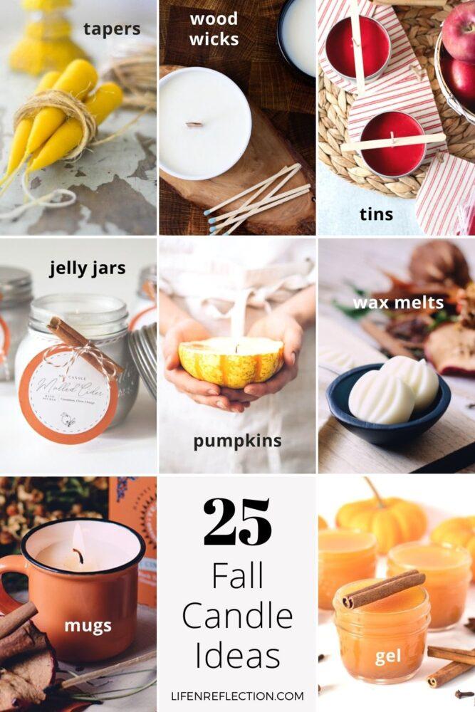 25 Homemade Fall Candles Ideas