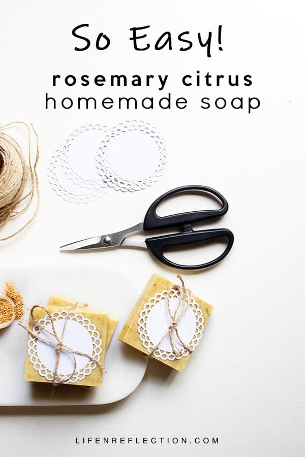 Handmade soap is so so easy to make with melt and pour soap!