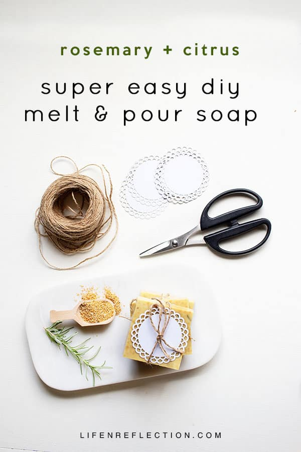 Everything you wanted to know about melt and pour soap with a refreshing rosemary citrus soap recipe!