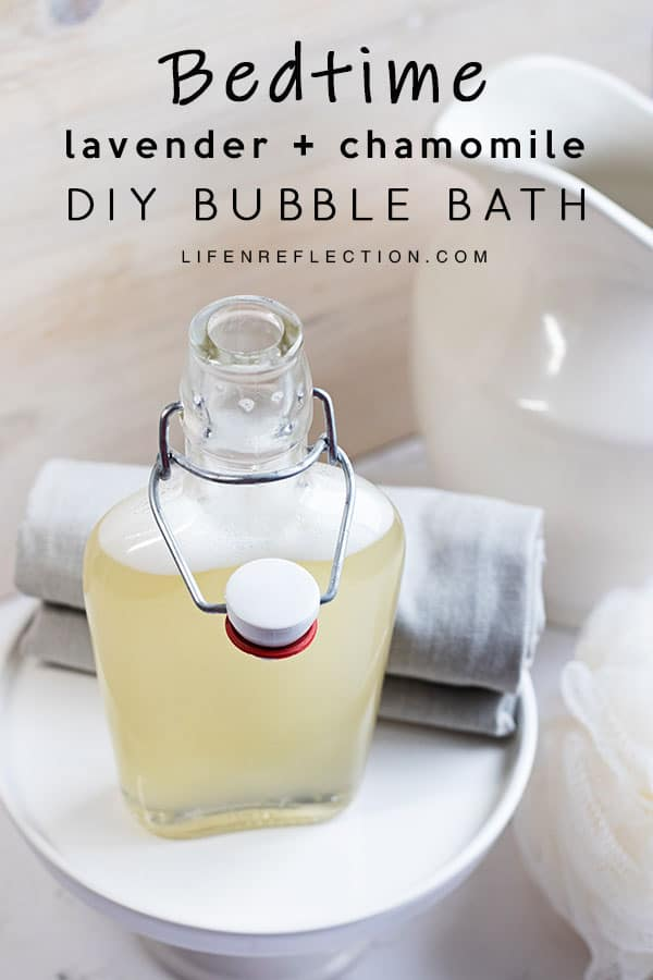 Bedtime Homemade Bubble Bath: perfect for mommies and their little ones.