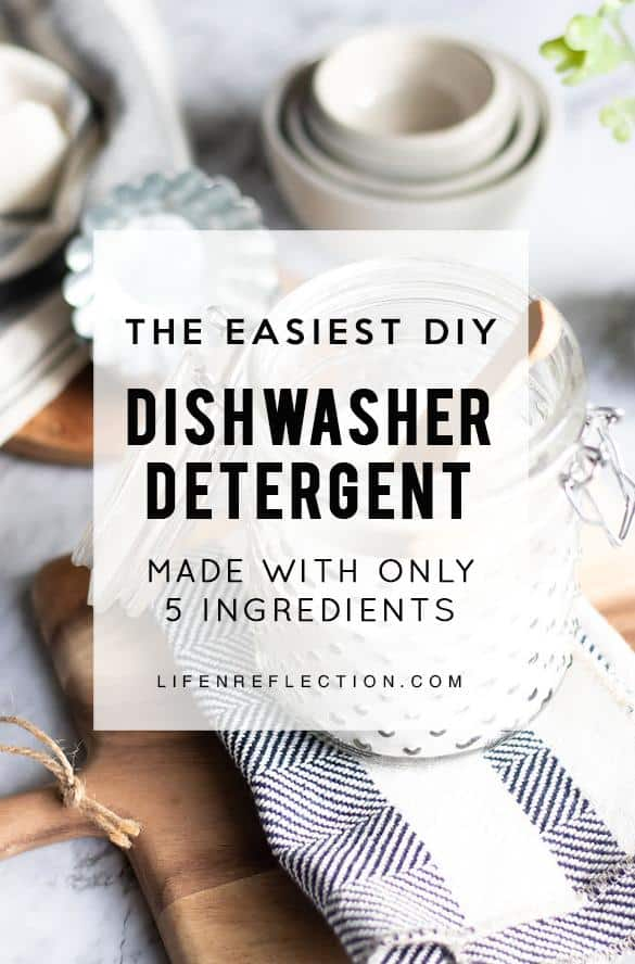 What's not to love? This recipe for an all natural homemade dishwasher detergent is made from simple, non-toxic ingredients that will keep your dishes clean and sparkly.