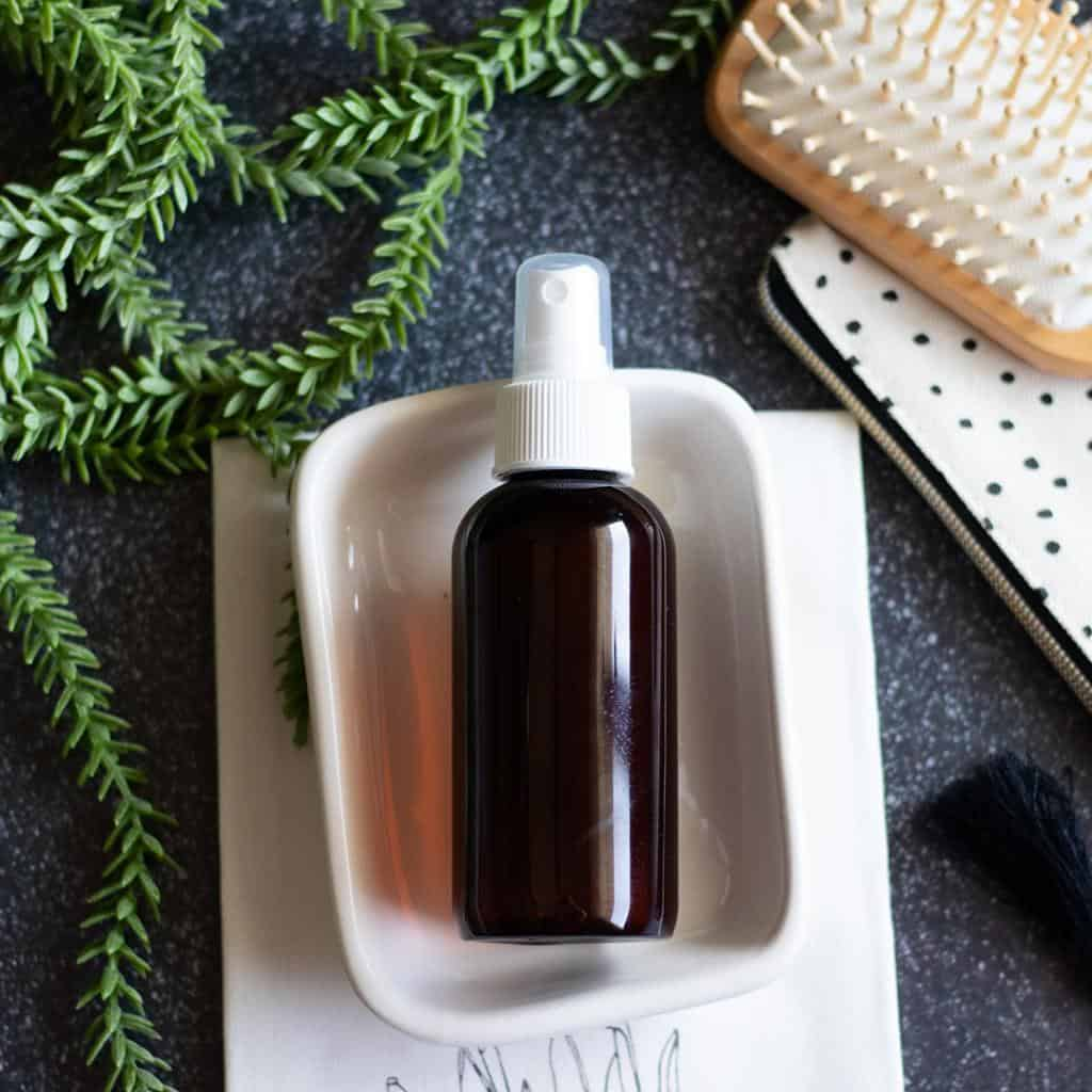 Ditch the toxins with a DIY hair spray. Make a natural hair spray with ingredients to nourish and boost hair growth.