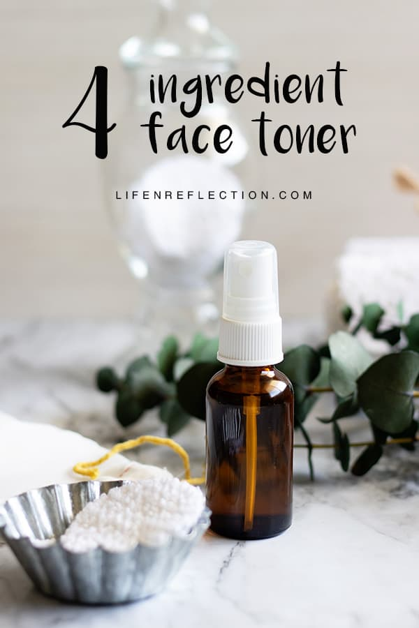 Make simple 4 ingredient natural face toner to refresh, tone, and balance the skin.