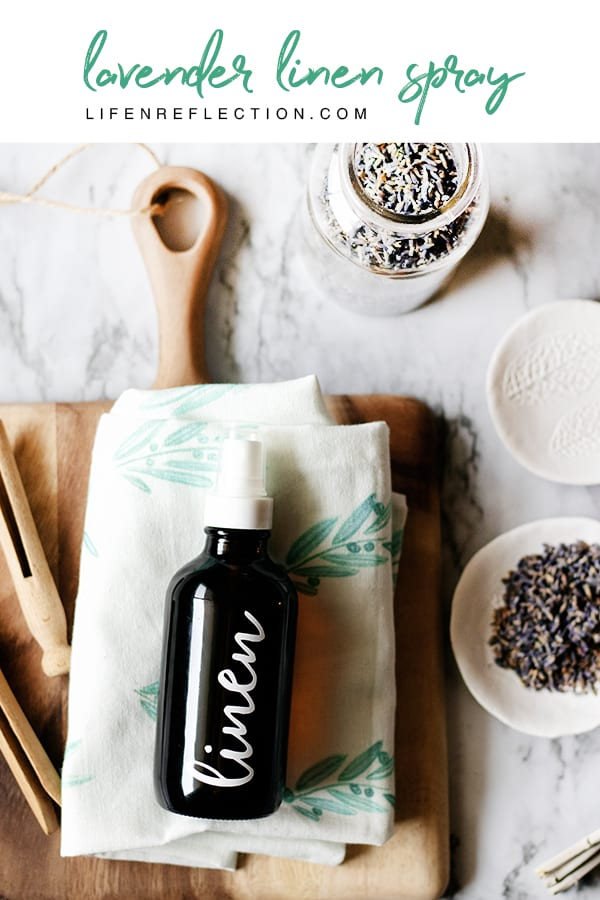 Refresh your space with a Joanna Gaines inspired DIY lavender linen spray. A simple and quick natural cleaning recipe you'll love!
