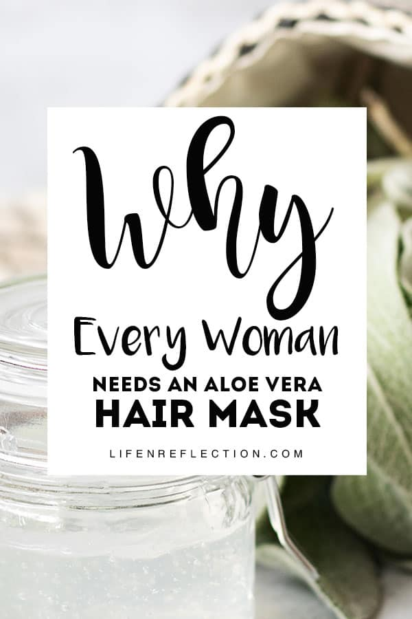 Every woman needs an aloe vera hair mask because sometimes our hair is BEYOND the wonders of dry shampoo!