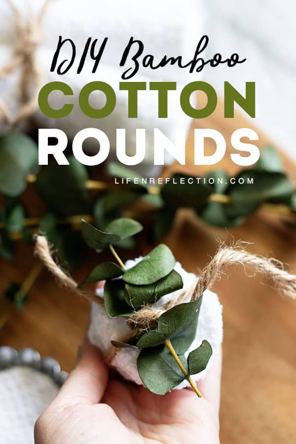 You will love using these soft, super absorbent DIY reusable cotton rounds. They are easy to use and nothing gets thrown away!