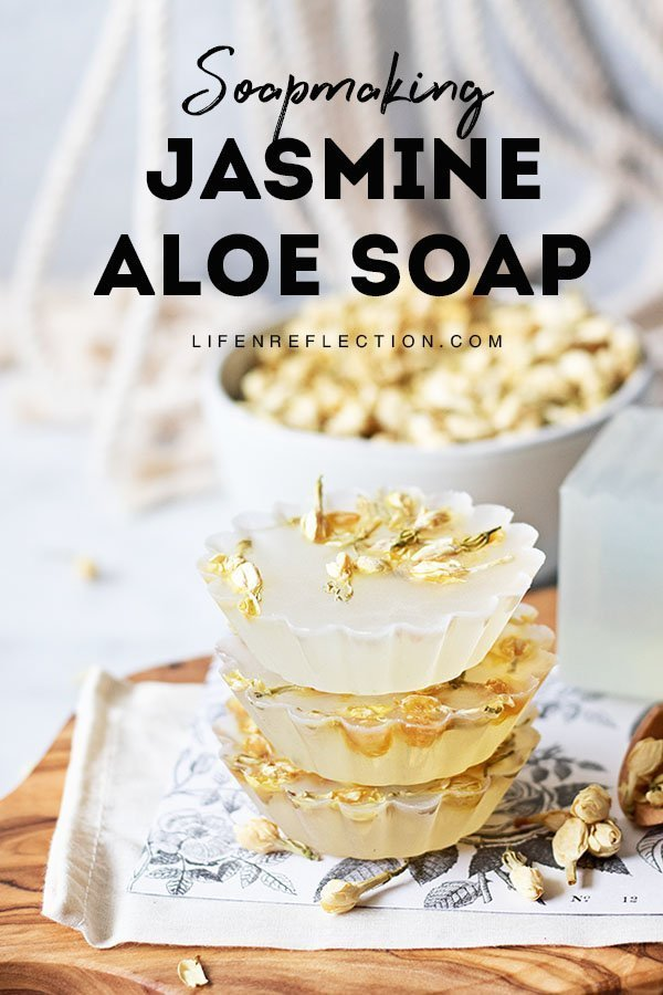 Are you in love with soap making too? Come make jasmine aloe vera soap with me!!