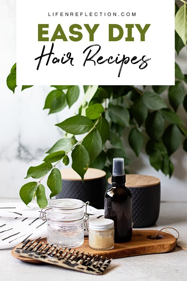Easy DIY Hair Recipes Made with Natural Hair Care Ingredients for Gorgeous Healthy Hair!!