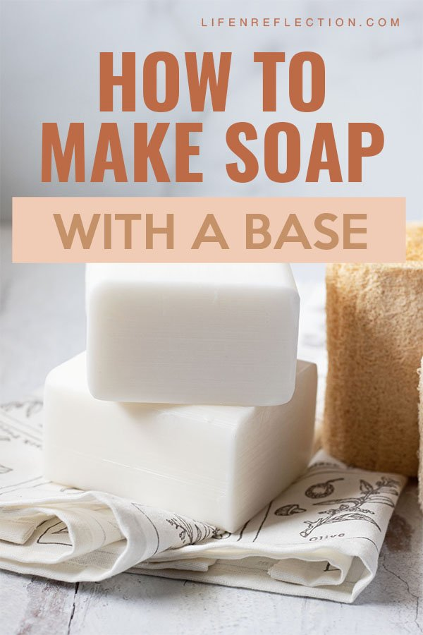Learning how to make soap with a soap base takes away the confusion and overwhelm often felt with beginner soap making.  Here's how to make soap without lye worries.