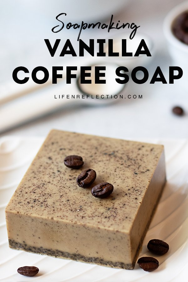 This coffee soap recipe is treat for your skin and your nose. It's great for all skin types and any coffee will work in this quick homemade soap.