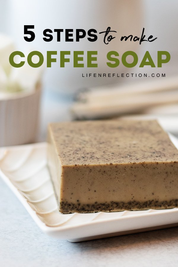 Follow these quick 5 steps to make vanilla coffee soap. It's the perfect gift for coffee lovers!
