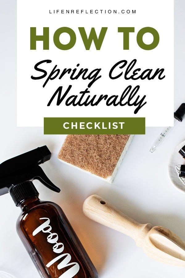 How to spring clean naturally with a simplified 3 day spring cleaning checklist.