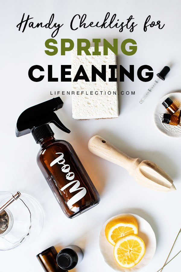 SPRING is THE PERFECT TIME to DEEP CLEAN our homes and air things out! Here's how with the use of handy spring cleaning checklists.