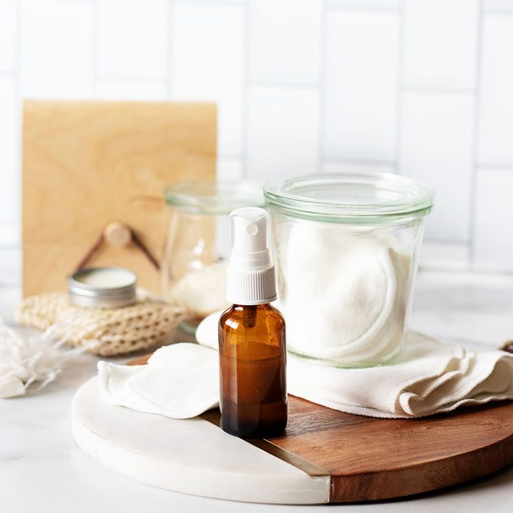 Safely remove eye makeup without stripping away natural oils or causing irritation to the sensitive area around your eyes with these strengthening DIY eyelash makeup remover pads.