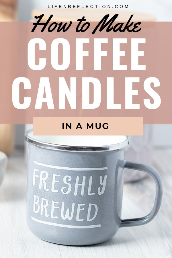 A DIY enamel coffee mug candle makes the perfect handmade gift for him or her.  Here's how to make a candle in mug!