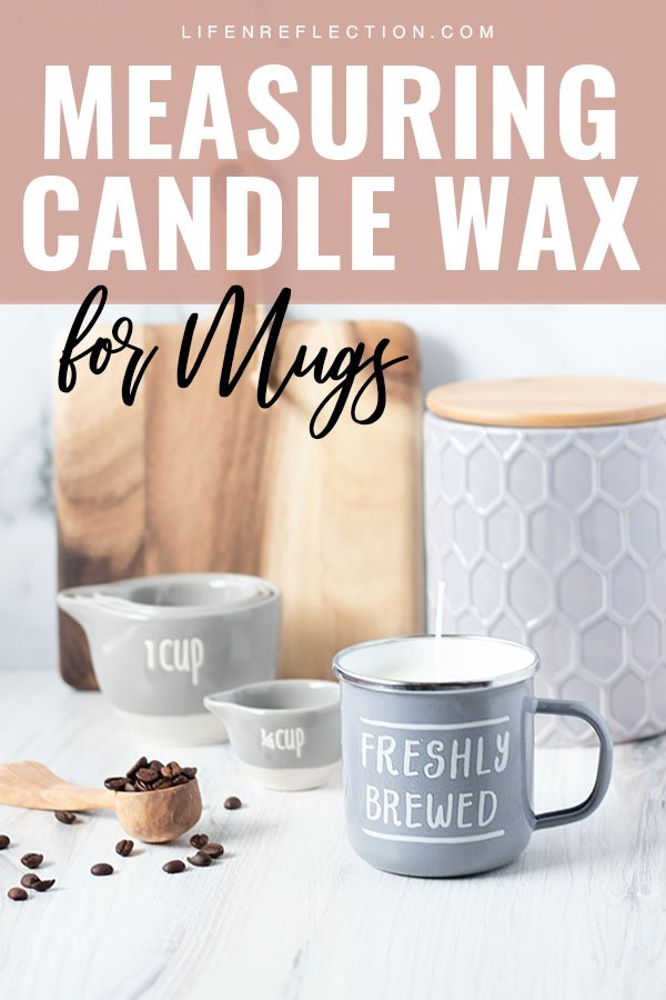 Make an irresistible enamel coffee mug candle or repurpose any mug with our easy candle wax calculator. It's the easiest way to measure candle wax to make a candle in a mug.