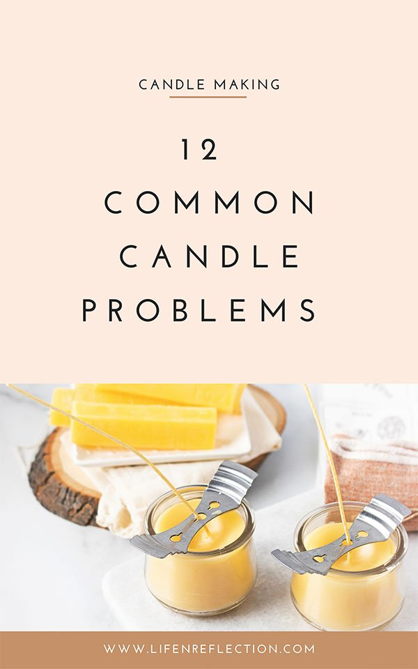 Rather you make candles to sell or you just enjoy the simplicity of candle making, I decided it was time that I share with you 12 common candle problems and how to fix each candle mistake.