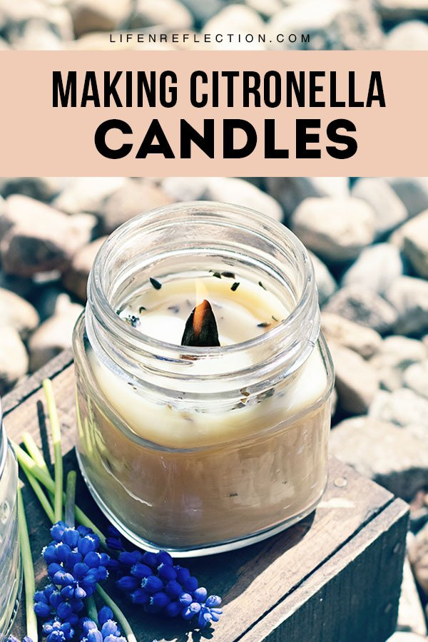 Citronella candles for outdoor natural mosquito repellent are best when made with real citronella oil and other natural ingredients. Here's how to make a DIY citronella candle.
