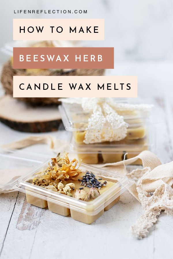 Let me show you how to not only make non toxic wax melts, but how to make herb candle wax melts that are so darn pretty!!