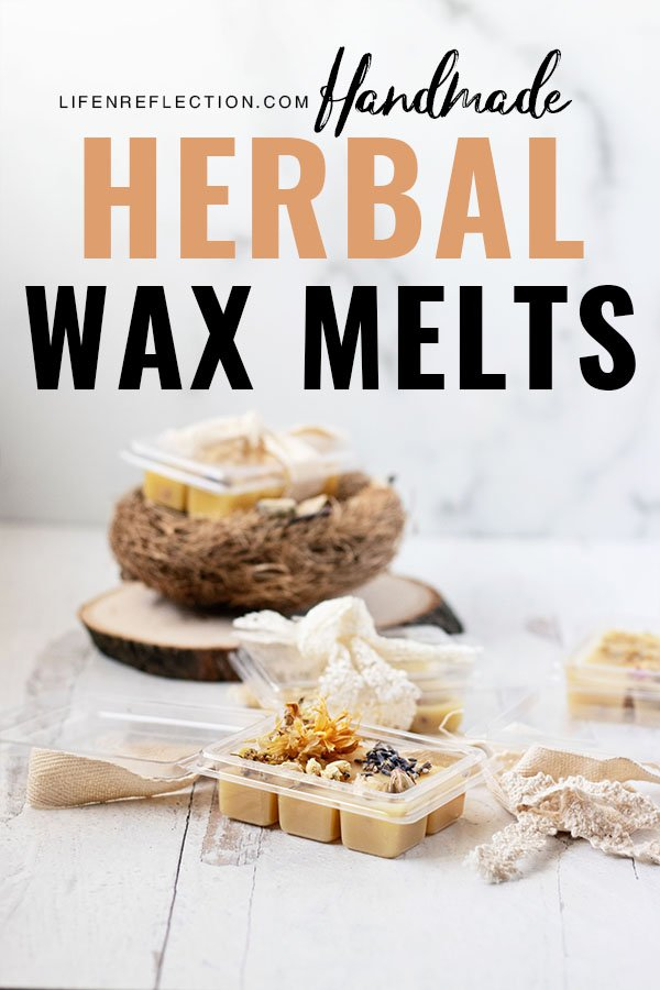 The best part of making candle wax melts is how unique each little square is when you tuck in dried herbs and flowers. Here's how I make wax melts!