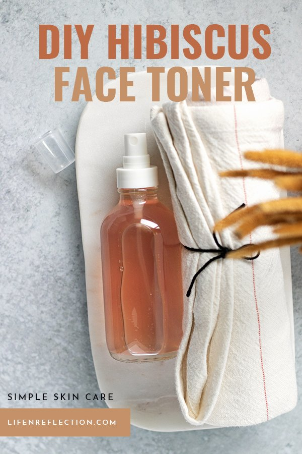 All in all this DIY toner is one of my best summer skin care tools. I know you'll love it too - here's how to make a hibiscus toner!