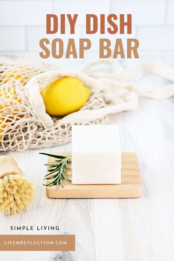 This solid dish soap bar recipe makes 2 eco-friendly dish soap bars and each can lasts up to six months worth of dirty dishes!!
