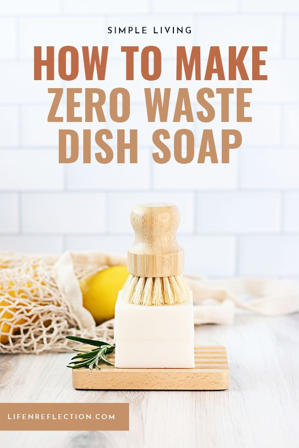 How to make dishwashing soap in the form of a DIY dish soap bar - it's so easy you'll wonder why you didn't switch to a solid dish soap bar sooner!!
