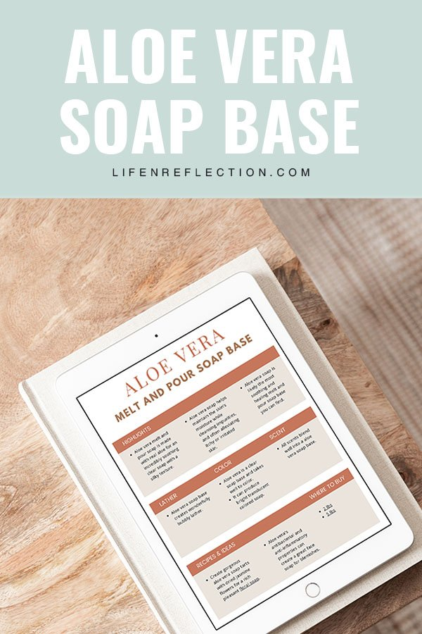 aloe vera melt and pour soap base guide to soap making