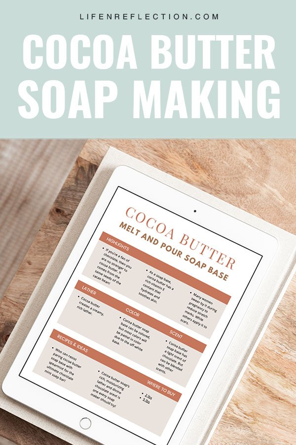 homemade soap making with cocoa butter melt and pour soap base