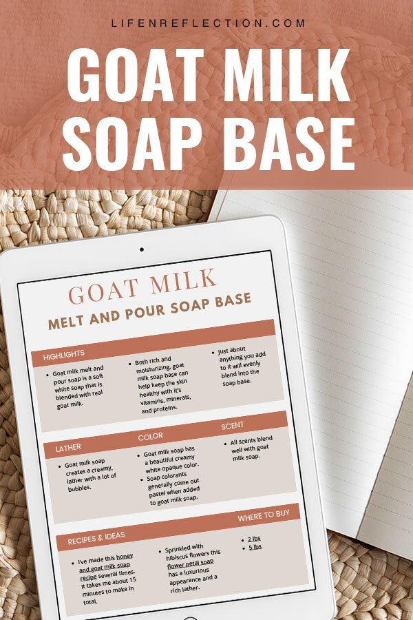 homemade soap making with goat milk melt and pour soap base