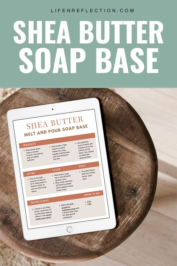 homemade soap making with shea butter melt and pour soap base
