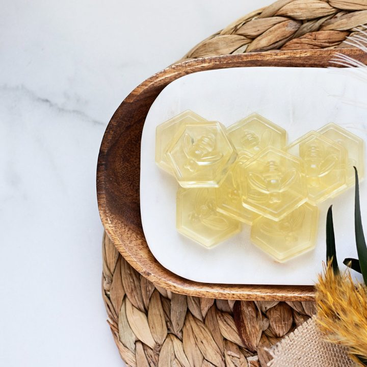 Soap making achievable for anyone: newbies and kids included with melt and pour soap recipes! Start with this lemon honey soap recipe without lye.