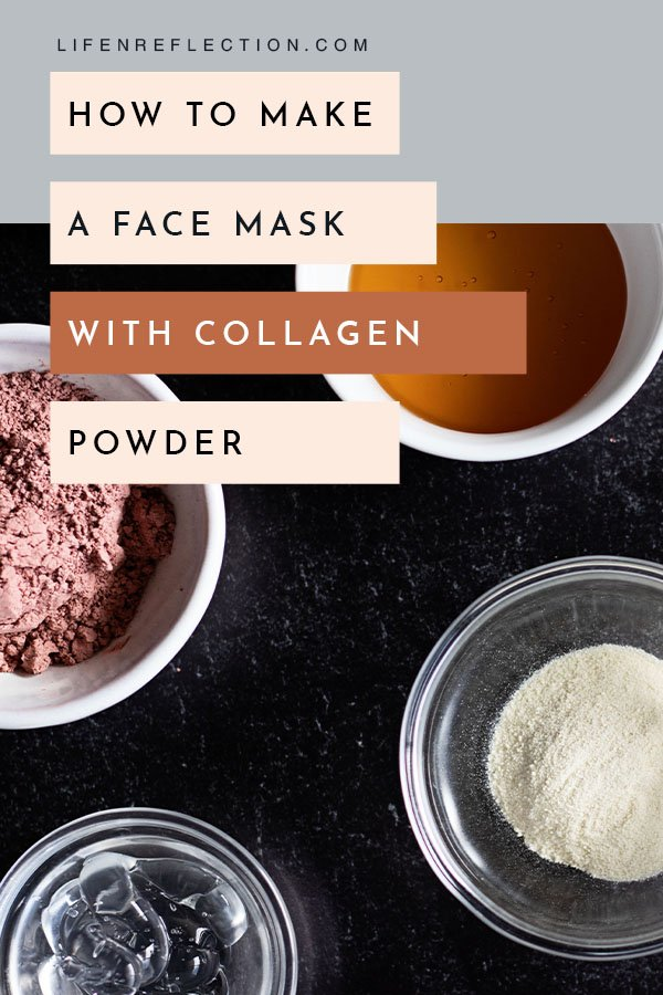 How to make a collagen face mask with collagen powder for youthful skin.