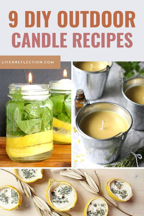 Having a relaxing evening on the patio, in your backyard, or by the pool can seem impossible if you are constantly getting bitten by mosquitoes. DIY outdoor candles can make all the difference!