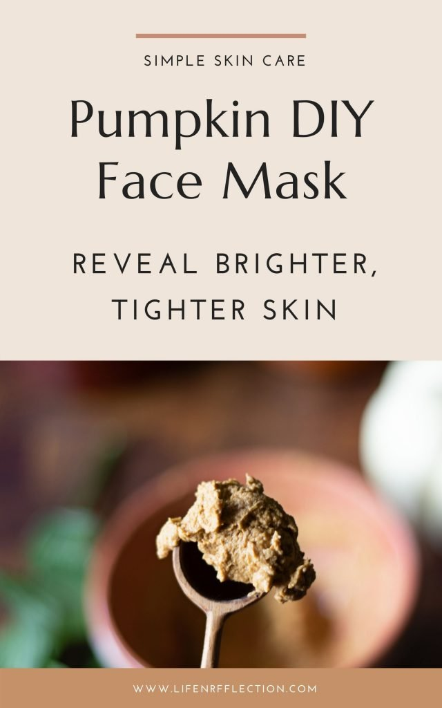 Reveal brighter, tighter skin with this easy to make brightening pumpkin face mask recipe! Loaded with pumpkin skin benefits you won't want to skip in your fall skincare routine.