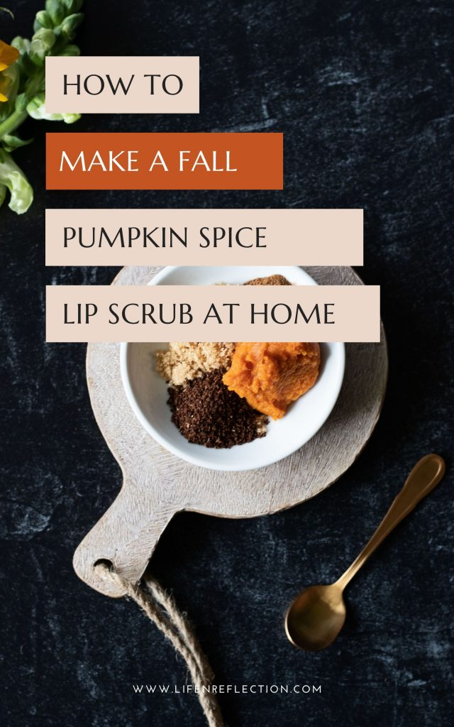 What if you could get all the taste of a PSL without the calories in one easy to make lip scrub recipe?