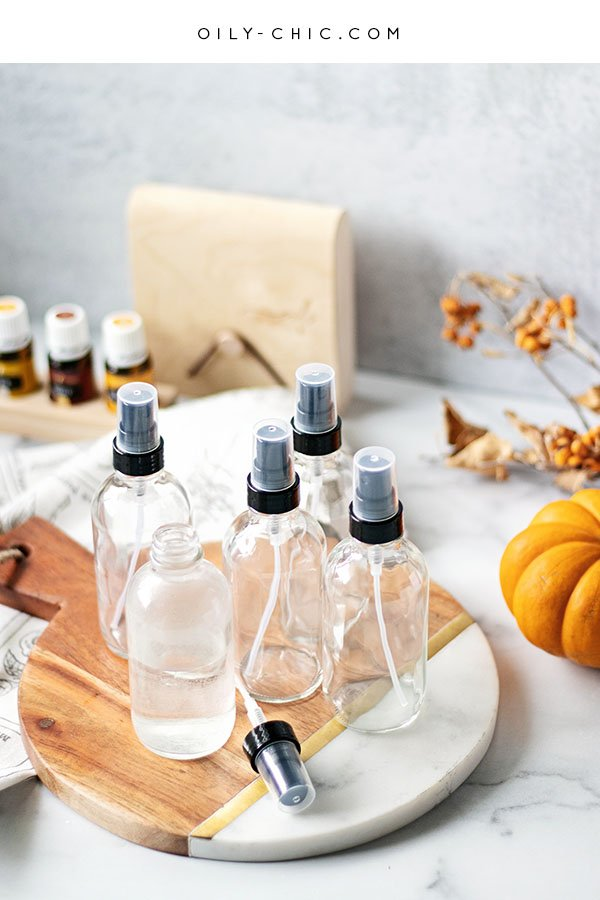 Bring on the cozy with these simple fall essential oil room sprays. Add one to fall gift basket!