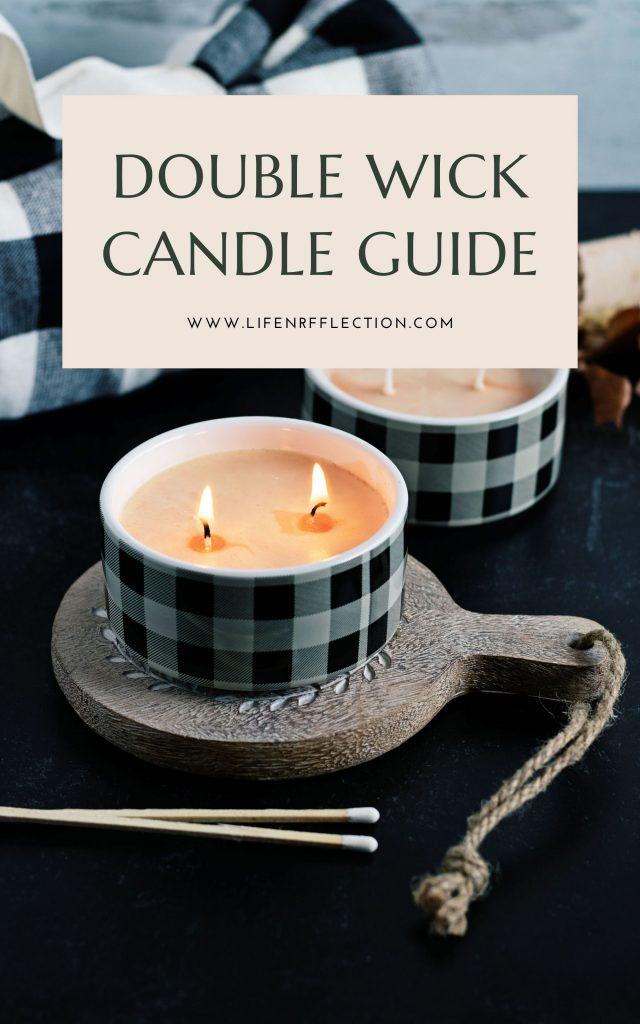 Want to make double wick candles? Find our 6 step instruction candle making guide with printables too!