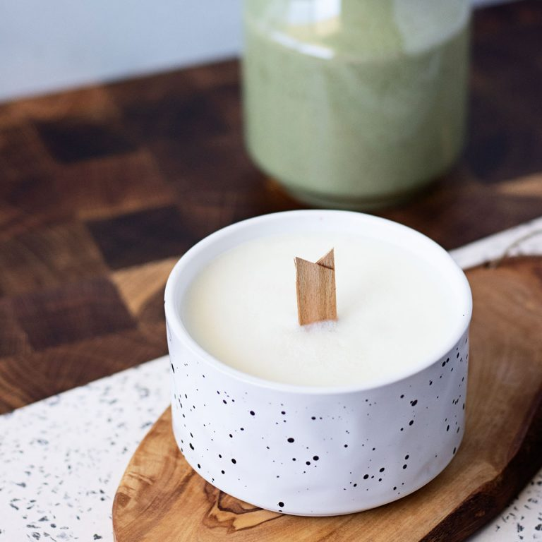 Here's a step by step candle making instructions for DIY wood wick candles!