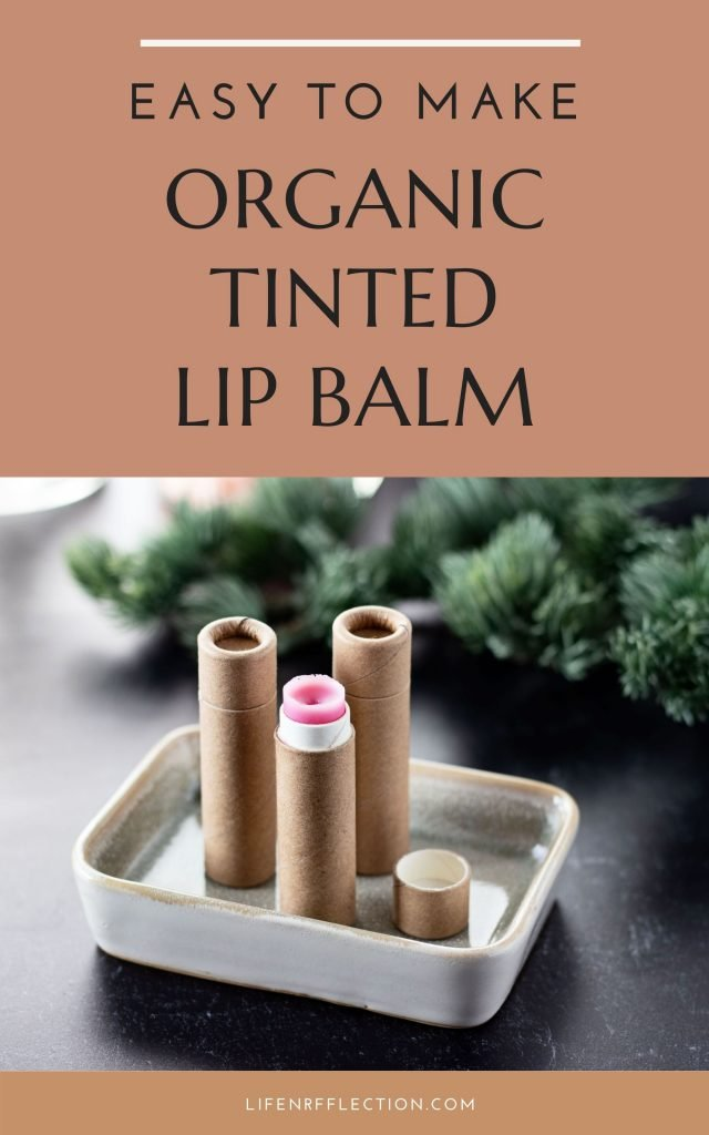 This pomegranate DIY tinted lip balm recipe is organic and easy to make at home, using the best method to add color to lip balm.