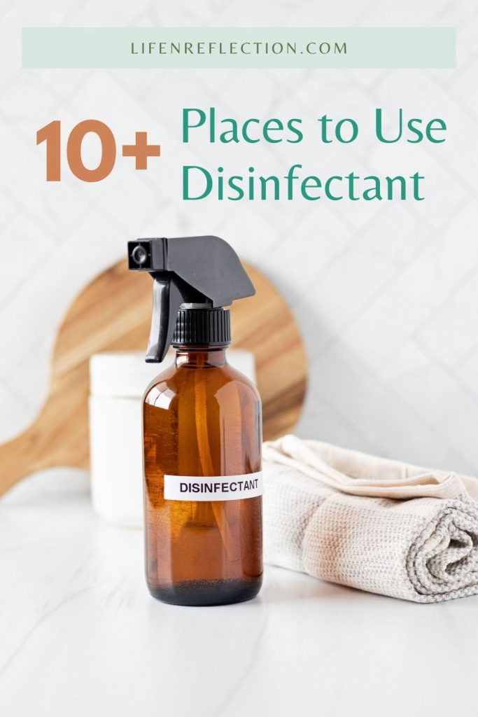 Where can you use a homemade disinfectant spray? You can use this homemade natural cleaner in a number of places! Here's a list of more than 10 places...