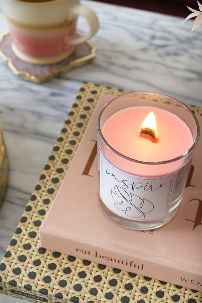 Make a gorgeous soft pink colored candle that you can enjoy in your home or give as a gift.